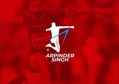 Brand identity design for Arpinder Singh, India's top triple jumper