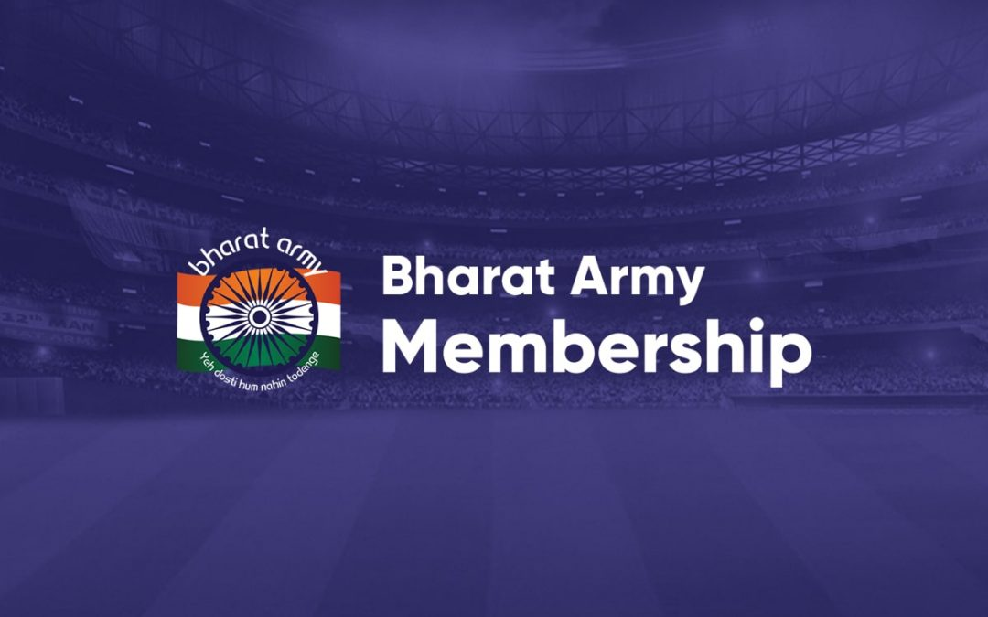 Bharat Army Membership branding and merchandising