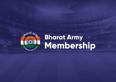 Bharat Army Membership branding and merchandising